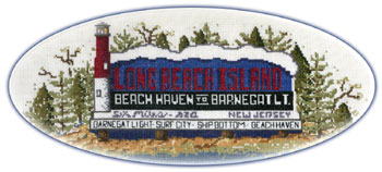 Long Beach Island Sign Cross-Stitch Kit